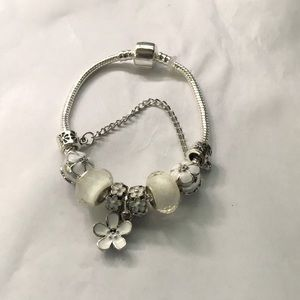 925 Stamped Sterling Silver Mixed Charms Bracelet